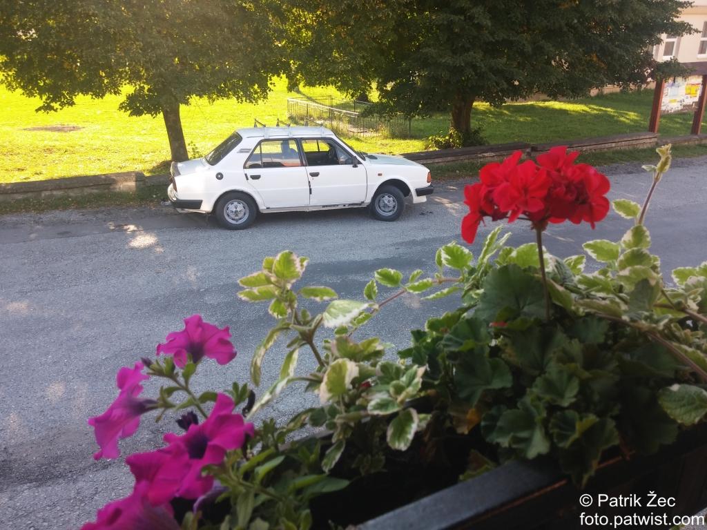 auta-skoda-125-biela-kvety-priroda-stromy-slnko-10-09-2016
